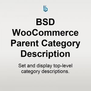 BSD WooCommerce Parent Category Description plugin