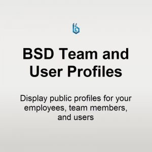 Team and User Profiles for WordPress plugin